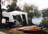 Windsurf-Camp mit Gartenzelt am Gardasee